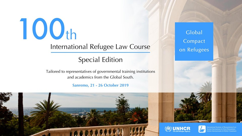 UNHCR/IIHL 100 th International Refugee Law Course 2019 (Fully-funded)