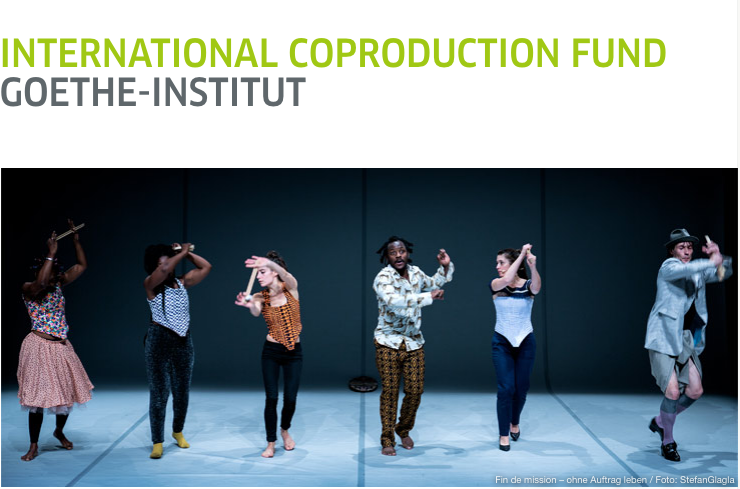 Goethe-Institut International Coproduction Fund 2020 for Artists (EUR25,000 in financing)