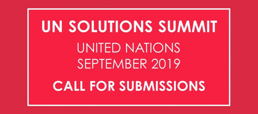 Require Submissions: The 2019 UN Solutions Top for Global Innovators.