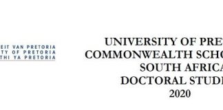 University of Pretoria Commonwealth Doctoral Scholarships 2020 for research study in South Africa (Totally Moneyed)