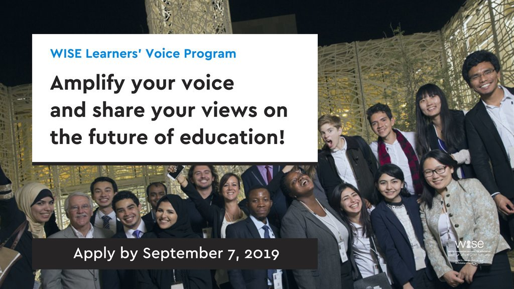 World Development Top for Education (WISE) Learners' Voice Program 2019/2020 for emerging young leaders (Completely Moneyed to Doha, Qatar)
