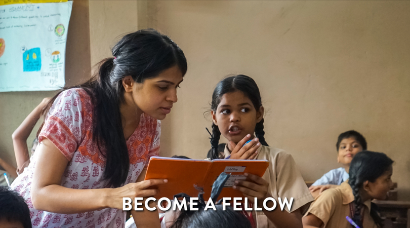 Teach For India Fellowship Program 2020-2022(Wage of Rs. 17,500/ month)