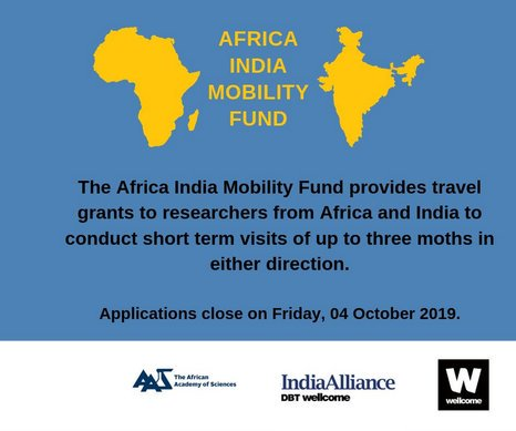 The African Academy of Sciences (The AAS) 2019 Africa India Movement Fund (AIMF)
