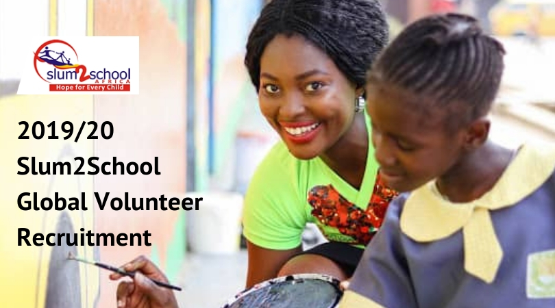 Slum2School International Volunteer Recruitment 2019/20 is open!