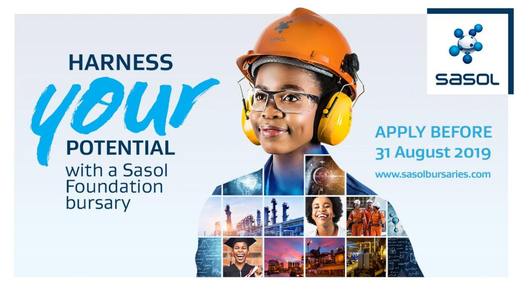 Sasol Structure Undergrad Bursary Program 2020 for young South Africans (Completely Moneyed)