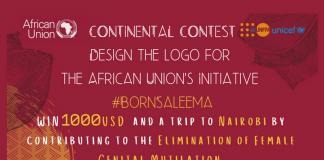 African Union Saleema Effort Logo Design Competitors 2019 on Removal of Female Genital Mutilation (1000 USD reward & & Completely Moneyed to Nairobi, Kenya)