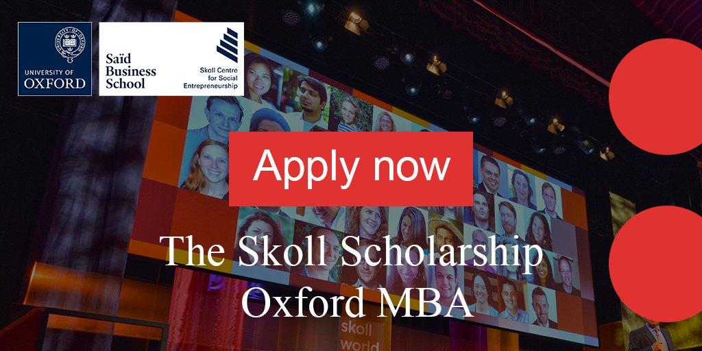Skoll Scholarship to study at University of Oxford's Saïd Organisation School 2020/21(Fully-funded)