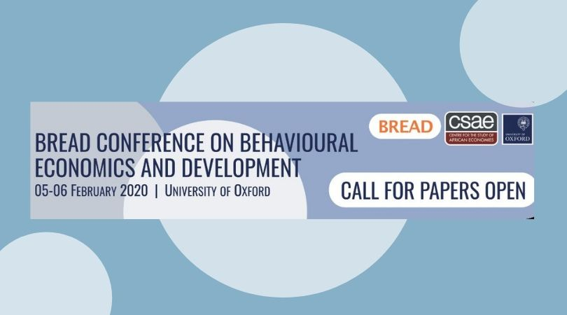 Require Documents: BREAD Conference on Behavioural Economics and Advancement 2020