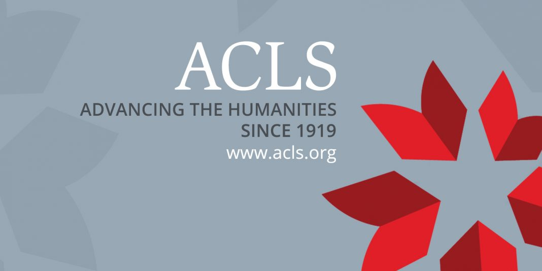 Mellon/ACLS Scholars & & Society Fellowship Program 2020/2021(Stipend of $75,000)