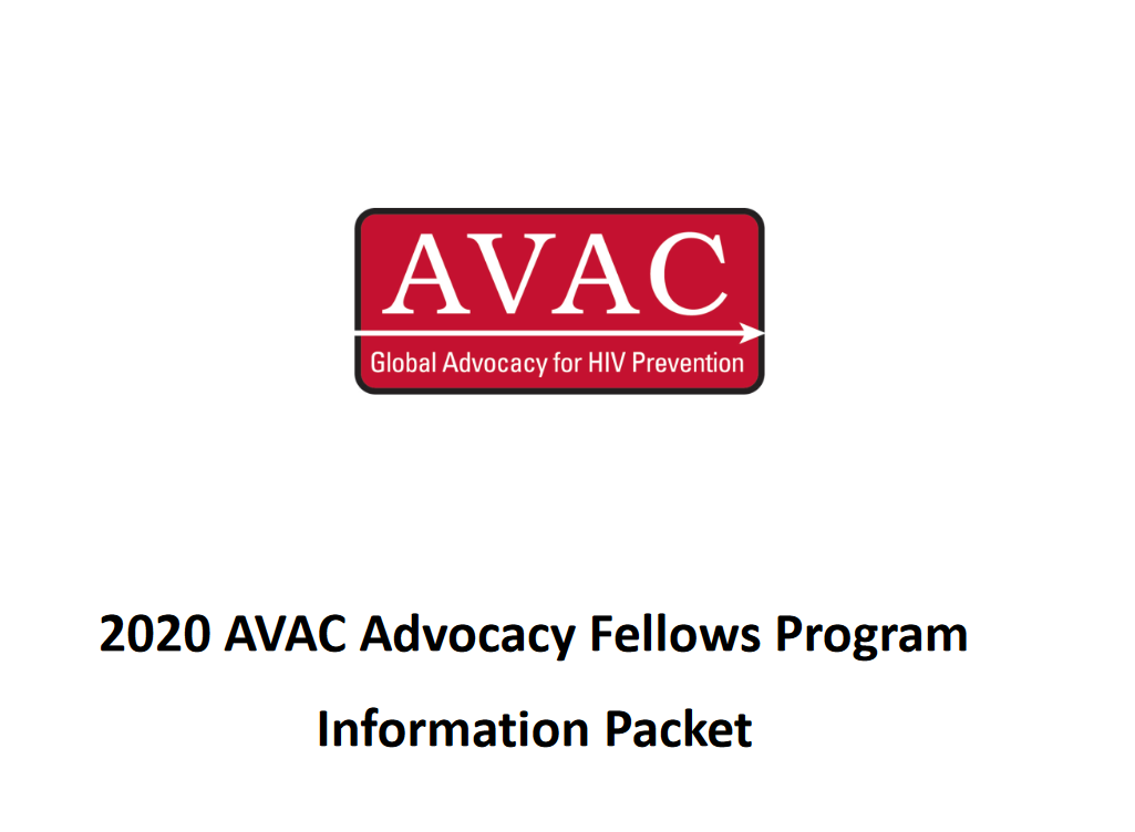 AVAC Advocacy Fellows Program 2020 for mid-career & & emerging supporters on HIV avoidance (Moneyed)