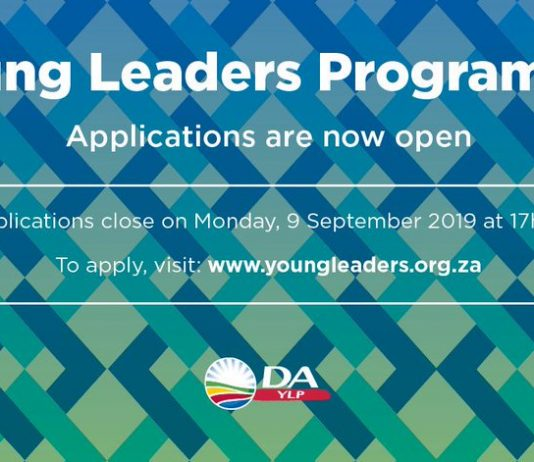 Democratic Alliance (DA) Young Leaders Program 2020 for young South Africans