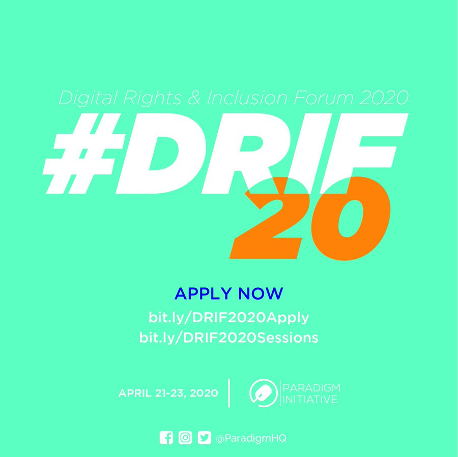 Digital Rights and Addition Online Forum 2020: Require applications