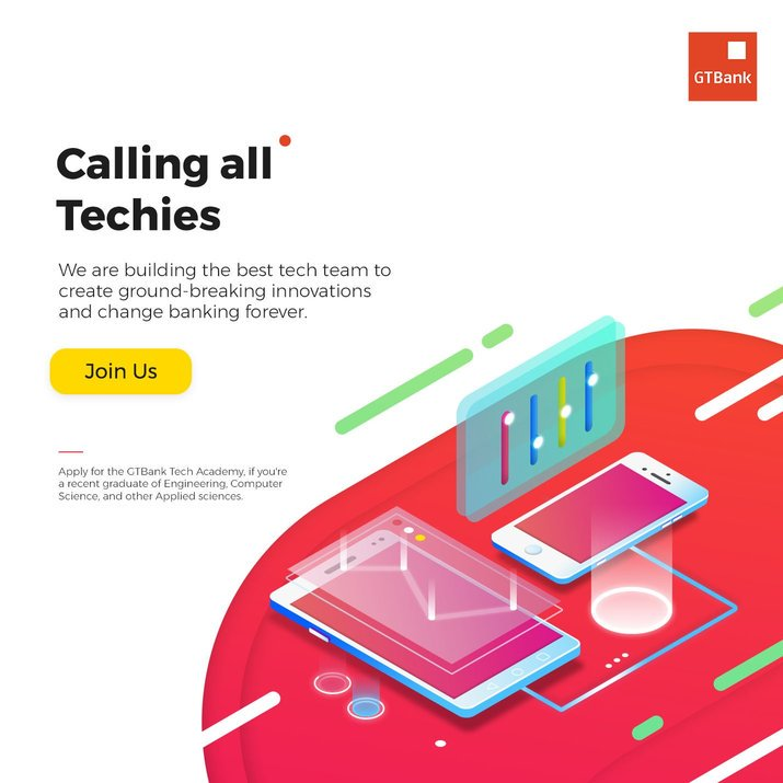 Warranty Trust Bank (GTB) Tech Academy 2019 for young Nigerians