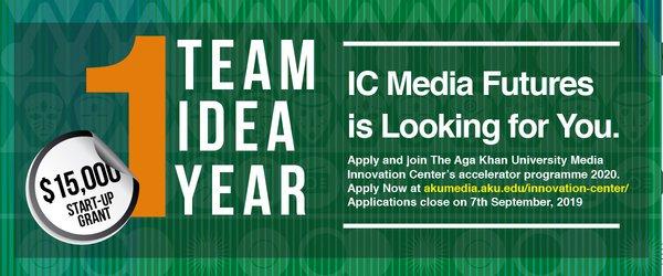 Aga Khan University Media Development Center's Accelerator Program 2020– USD 15,000 Start-up grant