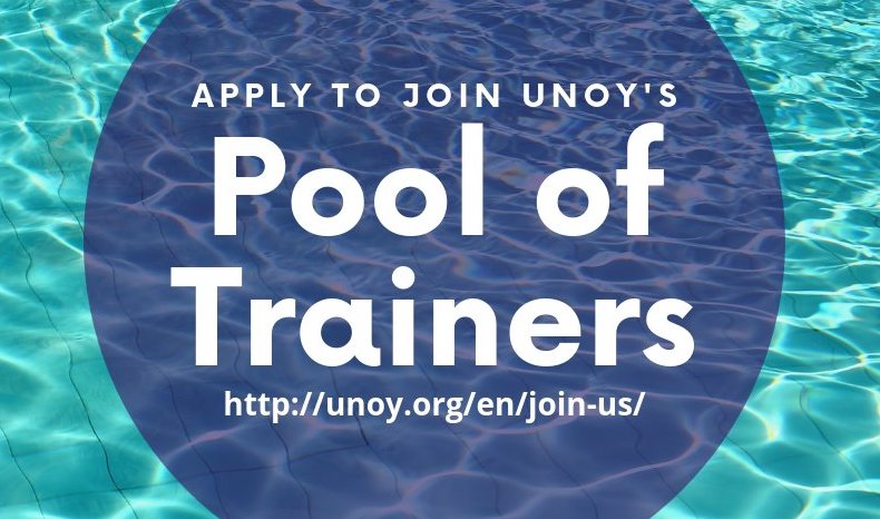 Require Young International Trainers: United Network of Young (UNOY) Peacebuilders' Swimming Pool of Trainers