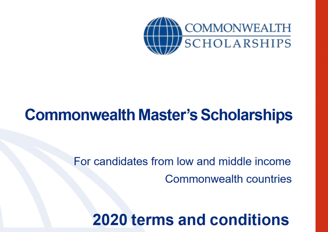 Commonwealth Master's Scholarships 2020 for full-time Master's research study at a UK university (Completely Moneyed)