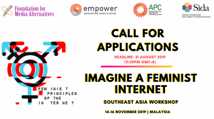 Require Applications: Think Of a Feminist Web Southeast Asia Workshop 2019