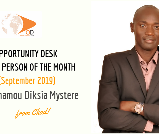Belmamou Diksia Mystere from Chad is OD Young Adult of the Month for September 2019!