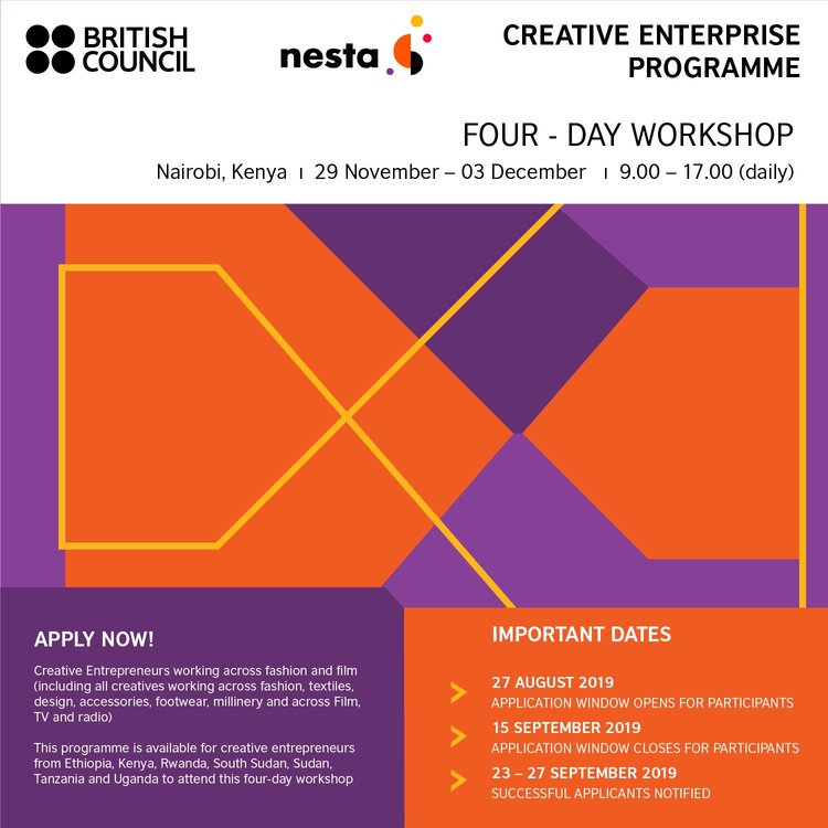 The British Council Creative Business Program 2019 in East Africa