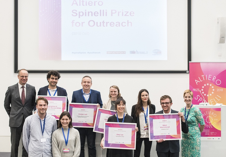 European Commission Altiero Spinelli Reward for Outreach 2019 (Approximately 25,000 EUR)