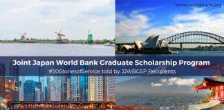 Joint Japan/World Bank Graduate Scholarship Program 2020 for Establishing nations (Fully-funded)