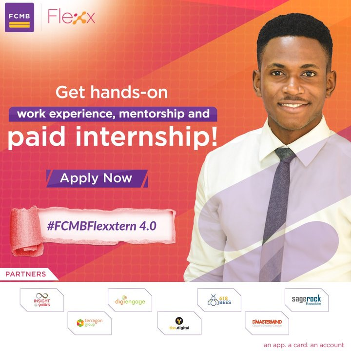First City Monolith Bank Paid Internship Program #FCMBFlexxtern 2019 for young Nigerians
