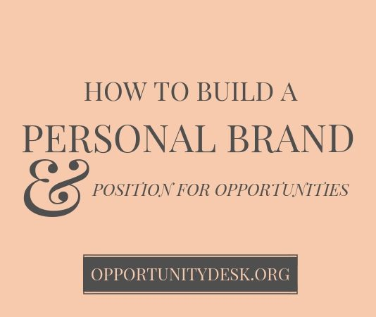 How to Construct your Individual Brand Name and Position for Opportunities