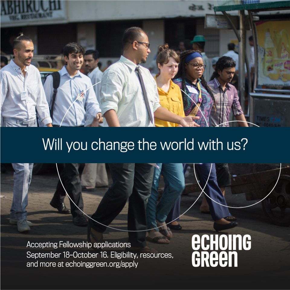 Echoing Green International Fellowship 2020 for emerging Social Business owners