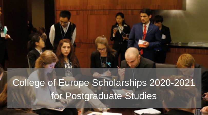 College of Europe Scholarships 2020/2021 for Postgraduate Research Studies