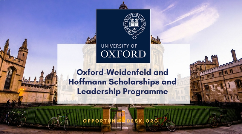 University of Oxford– Weidenfeld and Hoffmann Scholarships and Management Program 2020 (fully-funded)