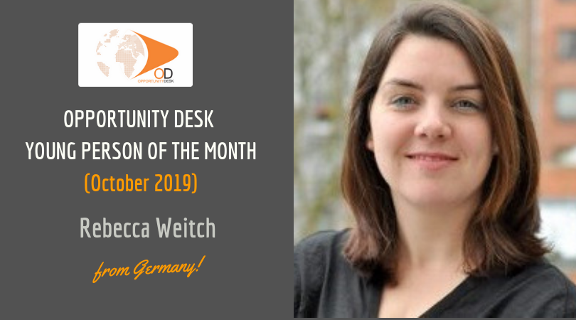 Rebecca Weicht from Germany is OD Young Adult of the Month for October 2019!