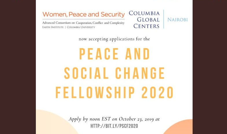 Peace and Social Modification Fellowship 2020 for Ladies Grassroots Activists in Africa (Moneyed to Nairobi, Kenya)