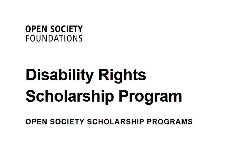 Open Society Structure Special Needs Rights Scholarship Program 2020 for young Africans (Moneyed)