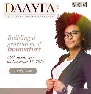 Deji Alli ARM Younger Expertise Award 2020 for younger Nigerians (Funding of  12 Million Naira)