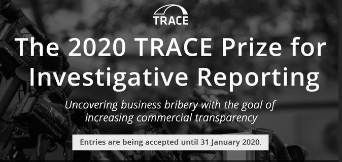 TRACE Reward 2020 for Investigative Reporting– Discovering Business Bribery (win prize money of $10,000 USD)