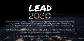 One Young World Lead2030 SDG Challenges ($500,000 in funding & 12 month programme of executive mentorship)