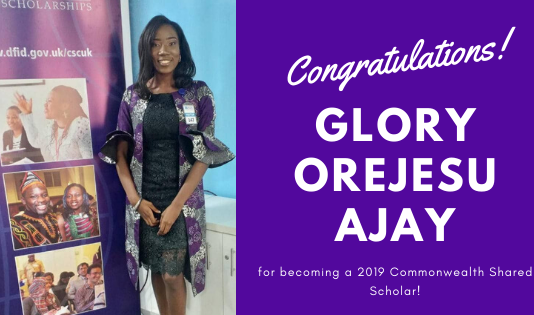 Glory Orejesu Ajay from Nigeria is Now a 2019 Commonwealth Shared Scholar!