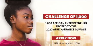 French Government Challenge 2020 for young African Entrepreneurs (Fully-funded to the 2020 Africa-France Summit in Bordeaux, France)