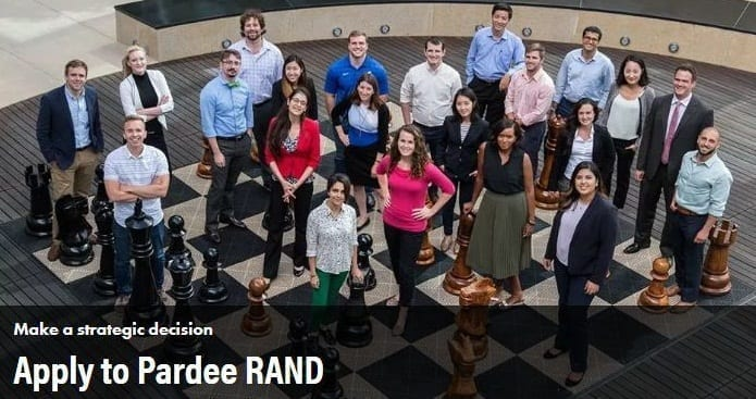 Pardee RAND Graduate School Ph.D. Program in Policy Analysis 2020 (Funding available)