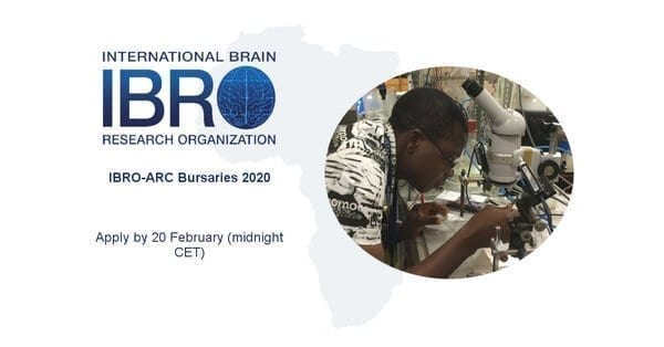 International Brain Research Organization African Regional Committee (IBRO-ARC) Bursaries 2020 for young African Researchers