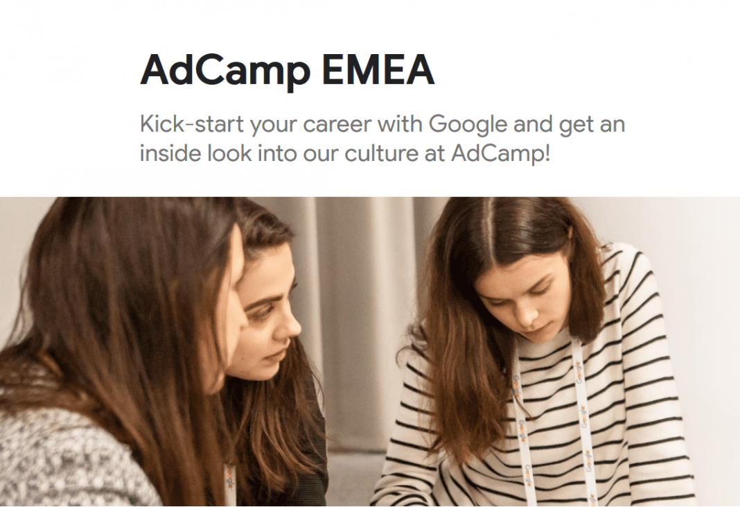 Google AdCamp EMEA 2019/2020 Program for current/recently graduated university students (Fully Funded)