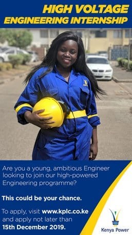 The Kenya Power & Lighting Company Plc. (KPLC) High Voltage Engineering Internship Program 2020
