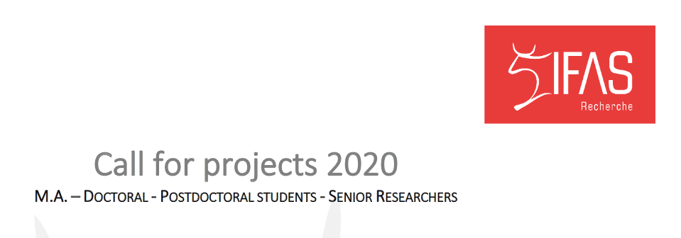 IFAS Call for applications 2020 : Master's students – Doctoral students – Post-doctoral students – Senior researchers