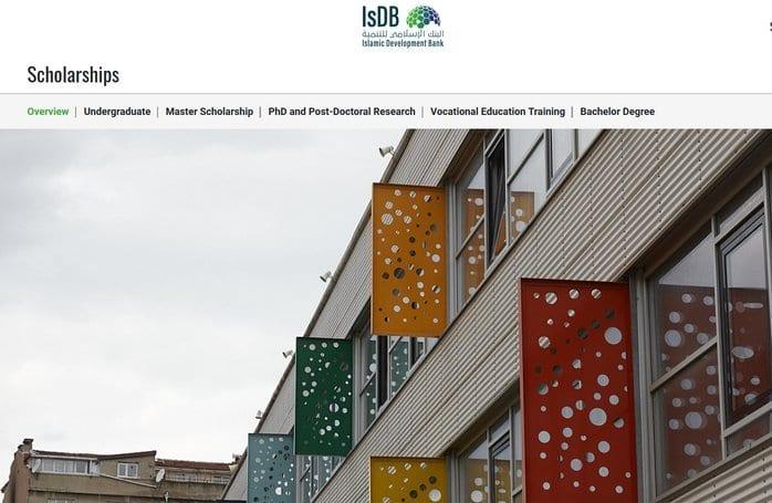 Islamic Development Bank (IsDB) Undergraduate, Masters & PhD Scholarship Programme 2020/2021 (Fully Funded)