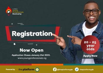 The Platform Nigeria Young Professionals Boot camp (YPB) 2020 for young Nigerians