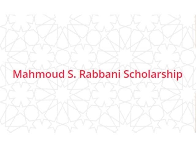 Mahmoud S. Rabbani Scholarship 2020 for MENA Students