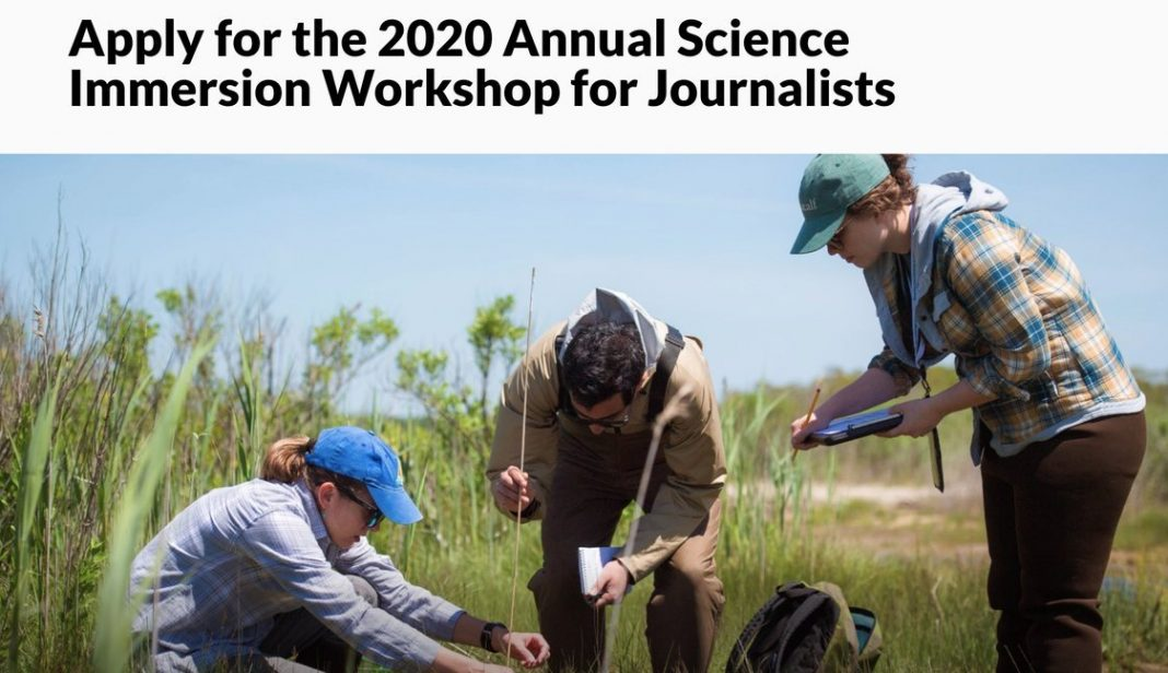 The Metcalf Institute Annual Science Immersion Workshop 2020 for Journalists – USA (Funded)