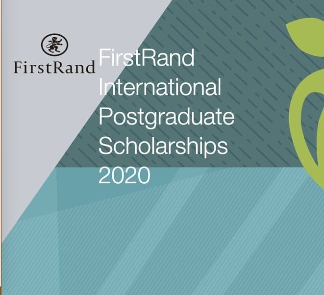 The FirstRand Laurie Dippenaar International postgraduate study Scholarships 2020 for young South Africans