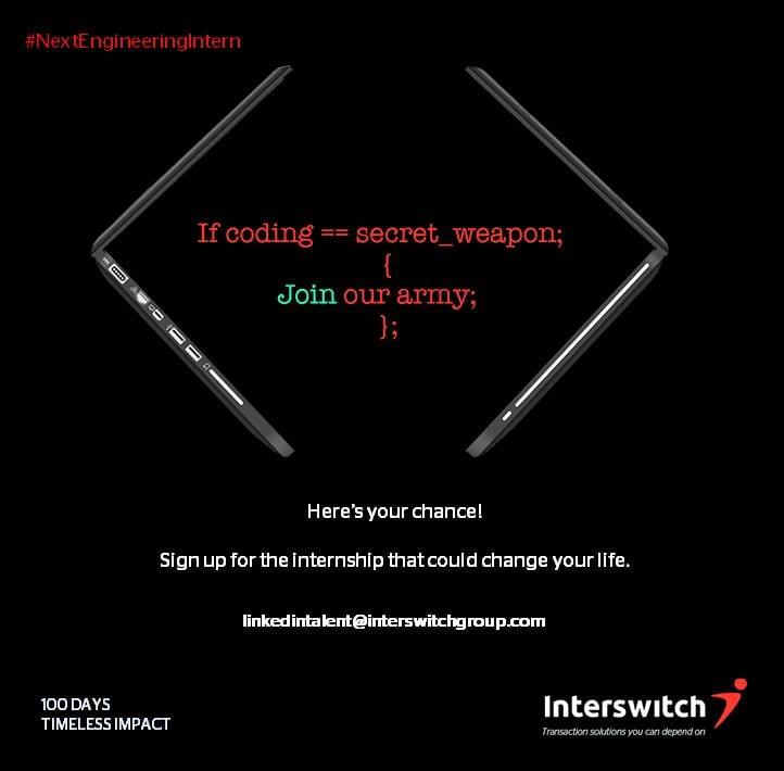 Interswitch Nigeria Next Engineering Intern Program 2020 for young Nigerian Developers