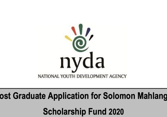 NYDA Solomon Kalushi Mahlangu Post graduate Scholarship Fund  2020 for young South Africans (Fully Funded)